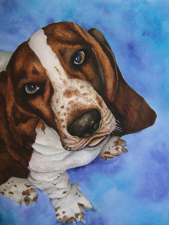 Otis The Basset Hound Painting by JoLyn Holladay