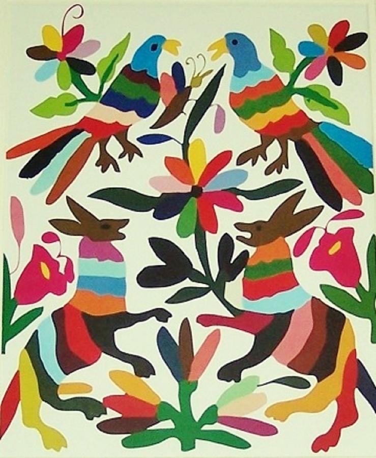 Otomi embroidery photograph by linda rahn