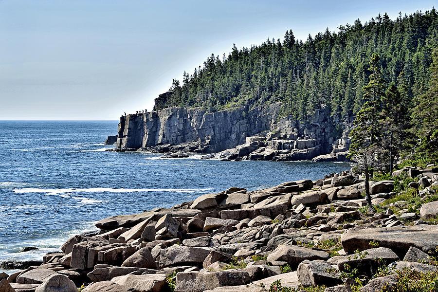 Acadia National Park Photograph - Otter Cliffs In Acadia National Park - Maine by Brendan Reals