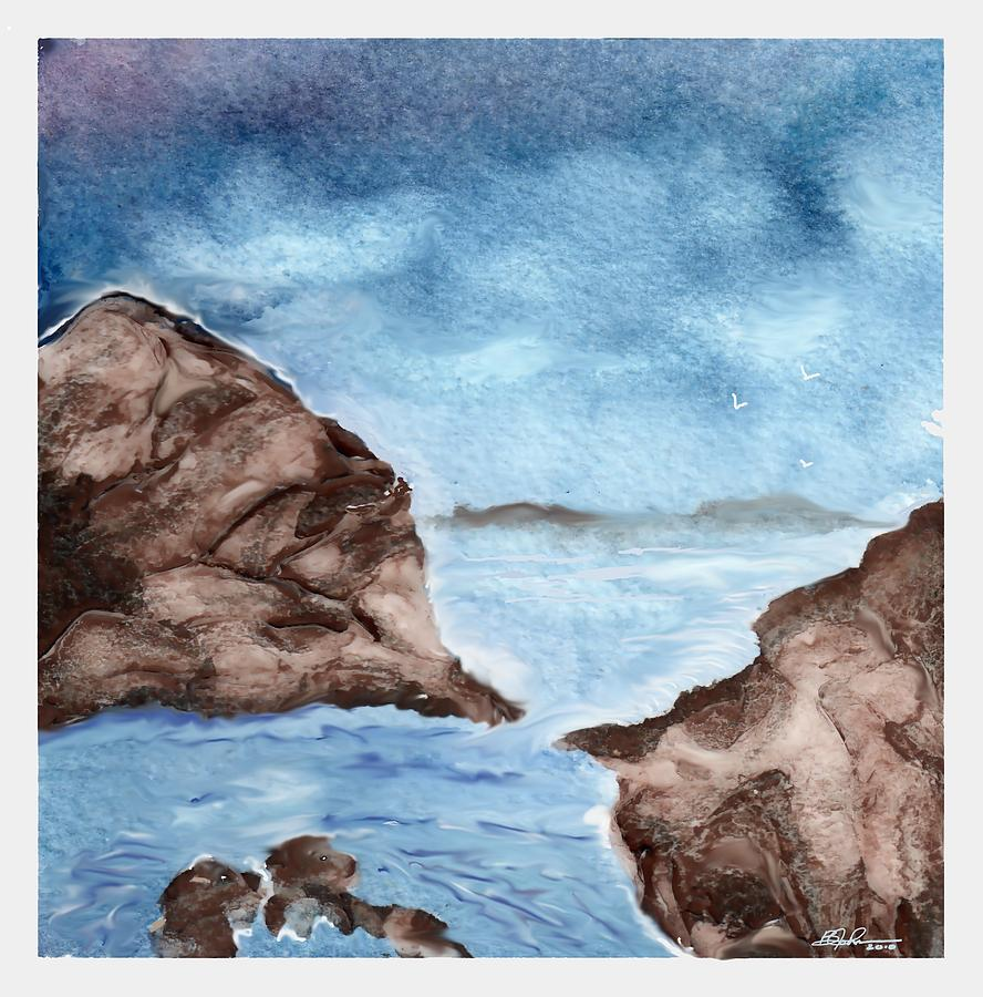 Ocean Painting - Otter Cove by Beverly Johnson