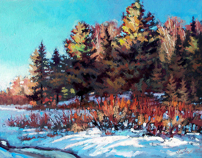 Winter Painting - Otter Creek by Larry Seiler
