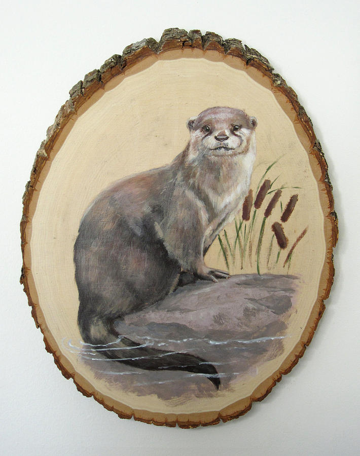 Playful Painting - Otter - Growing Curiosity by Brandy Woods