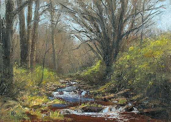 Landscape Painting - Ottos Creek by Joe Kazimierczyk