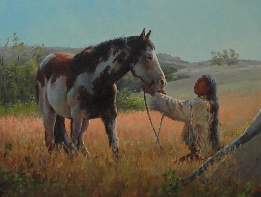 West Painting - Ottumwa Dawn by Jim Clements