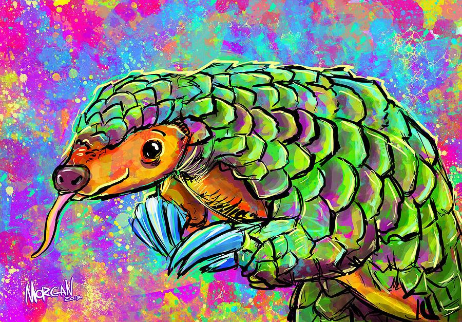 Elephant Digital Art - Pangolin by Morgan Richardson