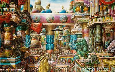 Oum Goran The Nine Stars Gate Painting by Herve Scott Flament
