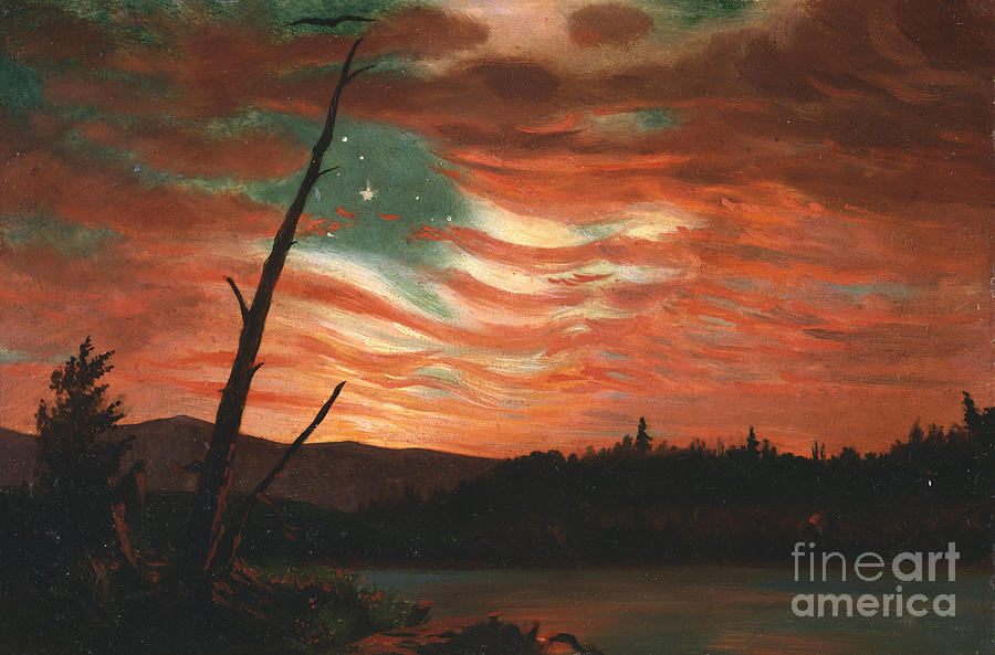 Our Painting - Our Banner in the Sky by Frederic Edwin Church