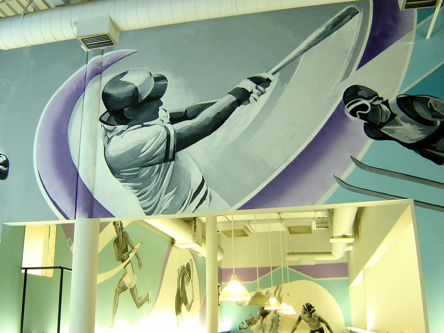 Mural Painting - Our Best Baseball Detail by Tim Heimdal