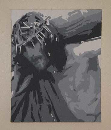 Jesus Painting - Our Burden by Michael James Toomy