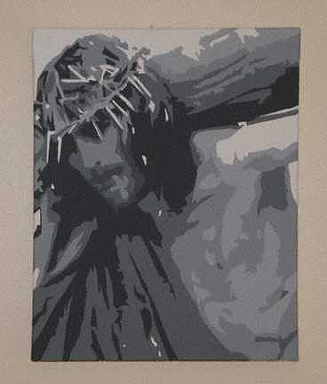 Jesus Painting - Our Burden-Sold by Michael James  Toomy
