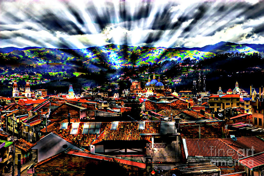 Light Photograph - Our City In The Andes by Al Bourassa
