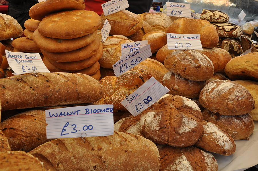 Bread Photograph - Our Daily Bread by Caroline Reyes-Loughrey