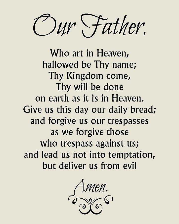 This is a picture of Lively The Lord's Prayer Printable