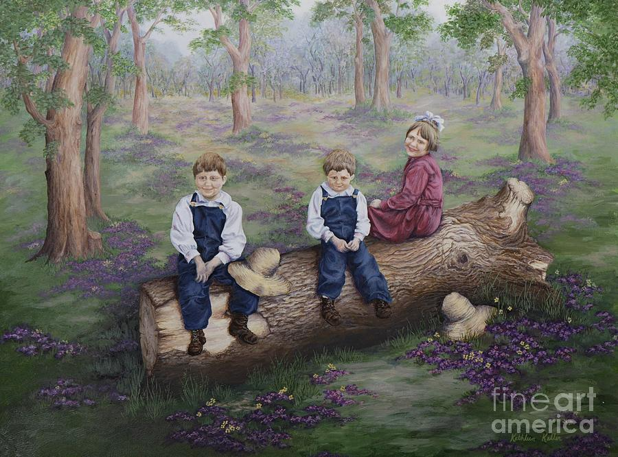 Woods Painting - Our Favorite Place by Kathleen Keller