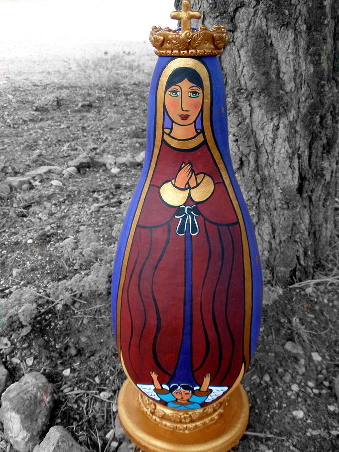 Our lady of Guadalupe sculpture by Jan Oliver-Schultz