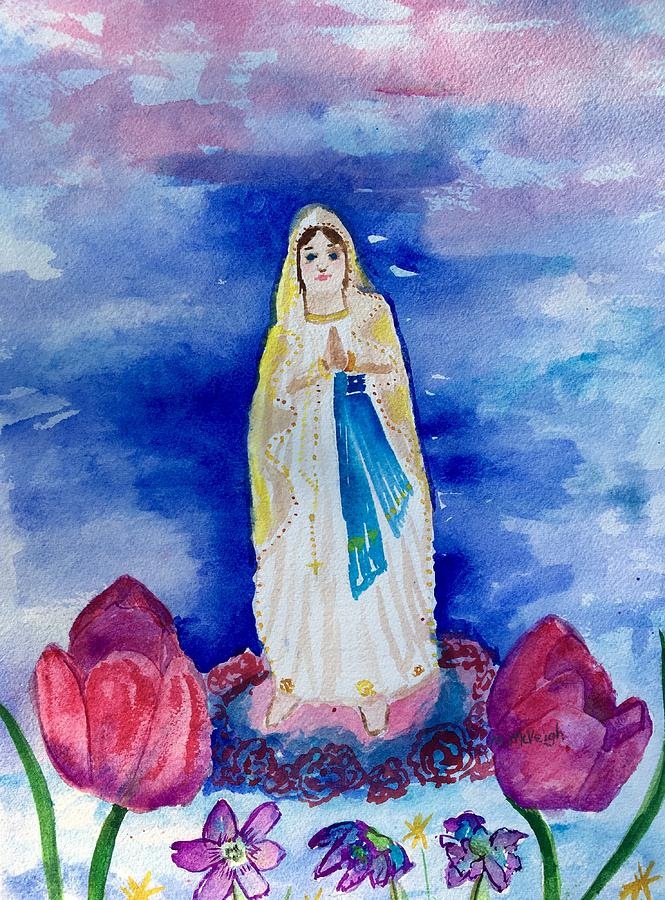 Catholic Painting - Our Lady Of Lourdes by Marita McVeigh