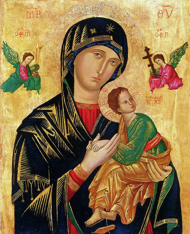 Our Painting - Our Lady of Perpetual Help Icon by Magdalena Walulik