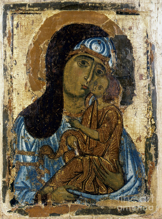 12th Century Photograph - Our Lady Of Tenderness by Granger