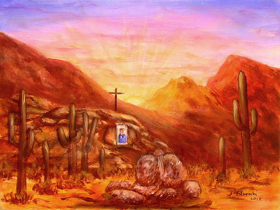 Our Lady Of The Desert Painting By Judy Filarecki