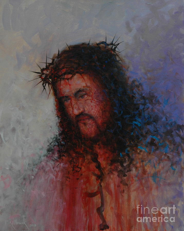 Savior Painting - Our Precious Savior by Michael Nowak