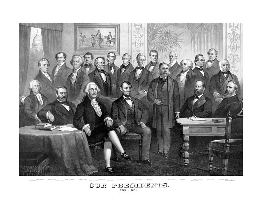 Our Presidents 1789-1881 Painting