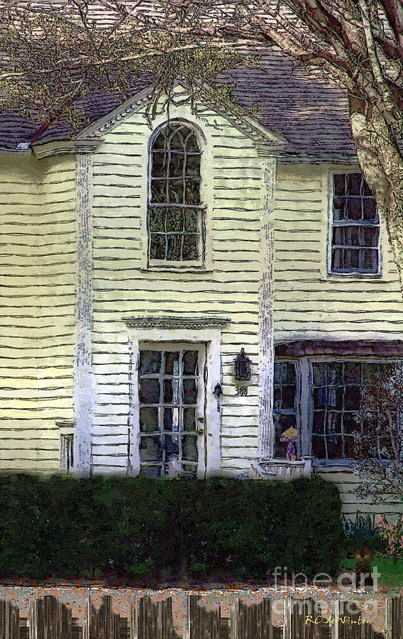 House Painting - Our Towns Witch House by RC DeWinter