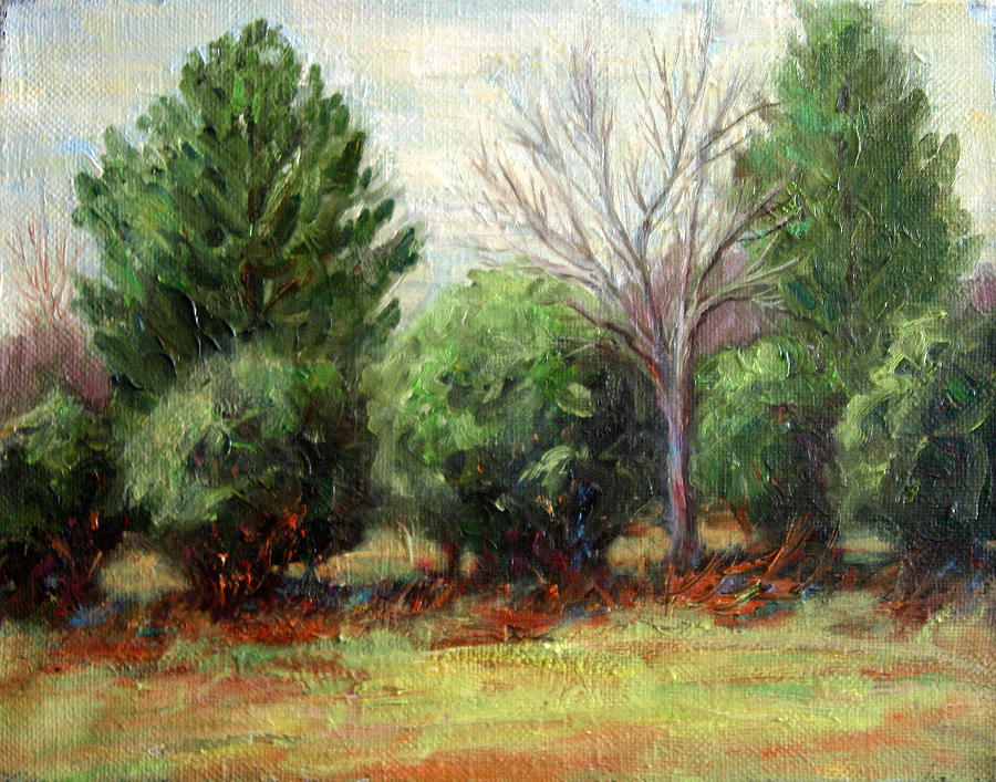 Landscape Painting - Out My Front Door by Lucy Williams