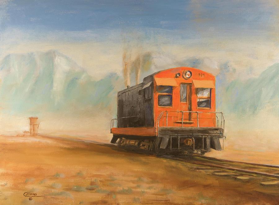 Railroad Painting - Out Near Smoke Creek by Christopher Jenkins