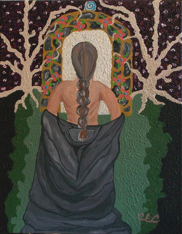 Oppression Of Woman Painting - Out Of Darkness by Carolyn Cable