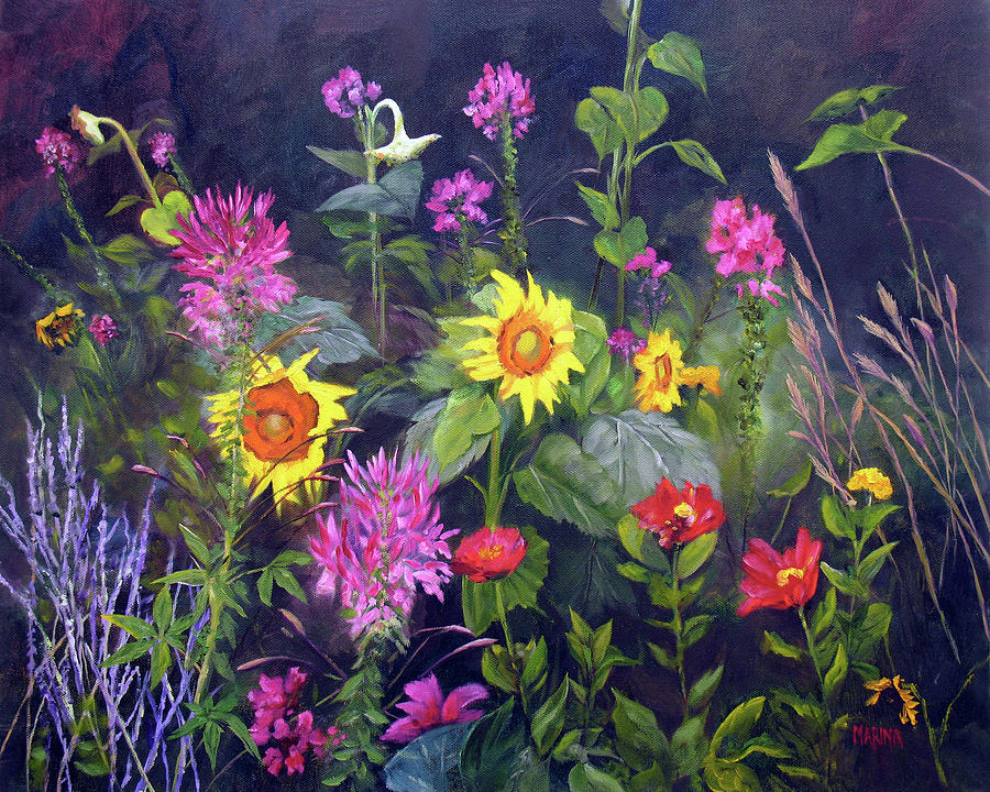 Floral Painting - Out Of Darkness by Marina Petro