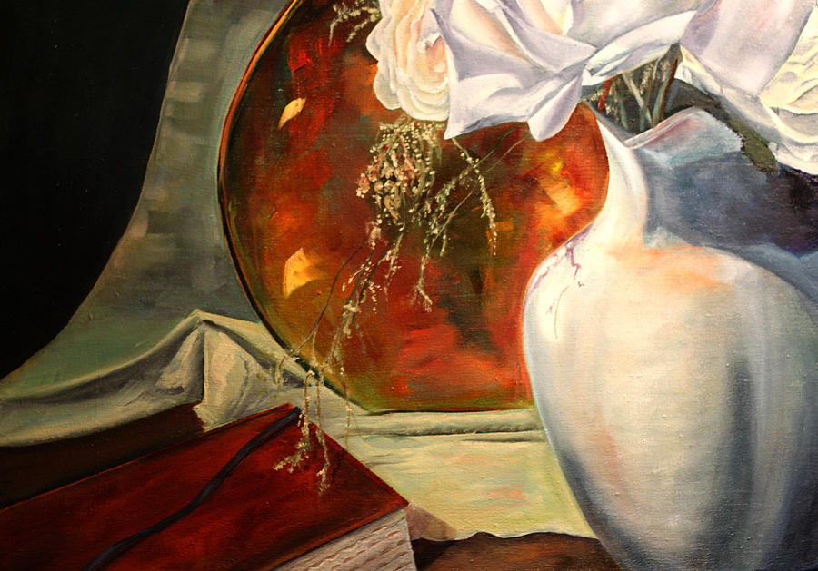 Oil On Canvas Painting - Out Of The Best Books by Jane Autry