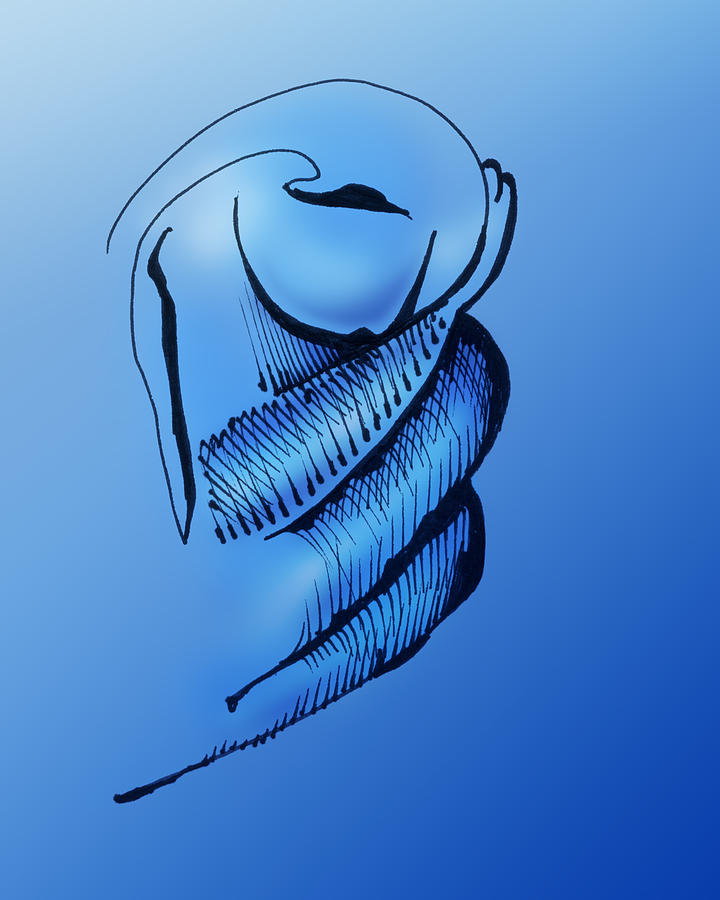 Pen And Ink Drawing Drawing - Out Of The Blue Aventurine by Keith A Link