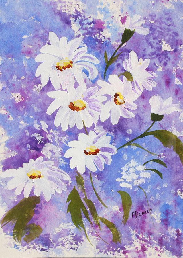 Flowers Mixed Media - Out Of The Blue by Michele Turney