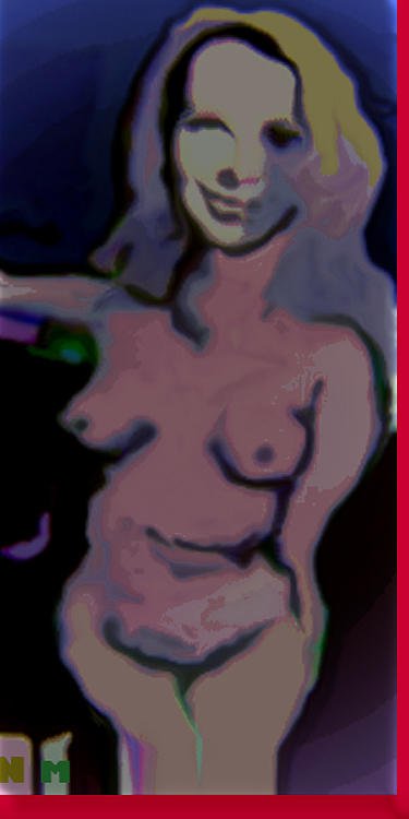 Nude Painting - Out Of The Blues by Noredin Morgan