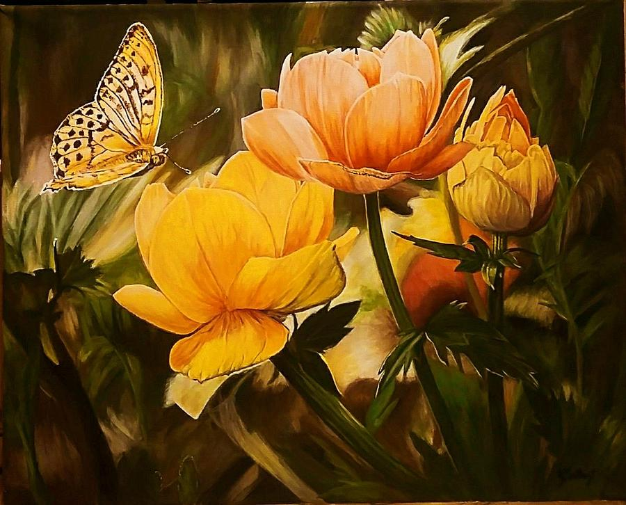Acrylic Painting - Out Of The Dark by Sheryl Gallant