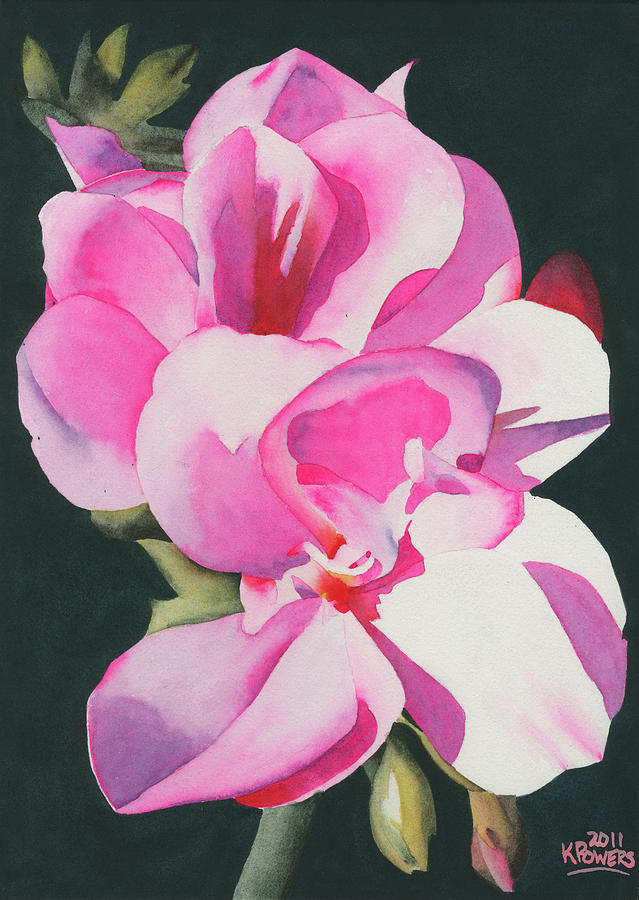 Flower Painting - Out Of The Darkness by Ken Powers