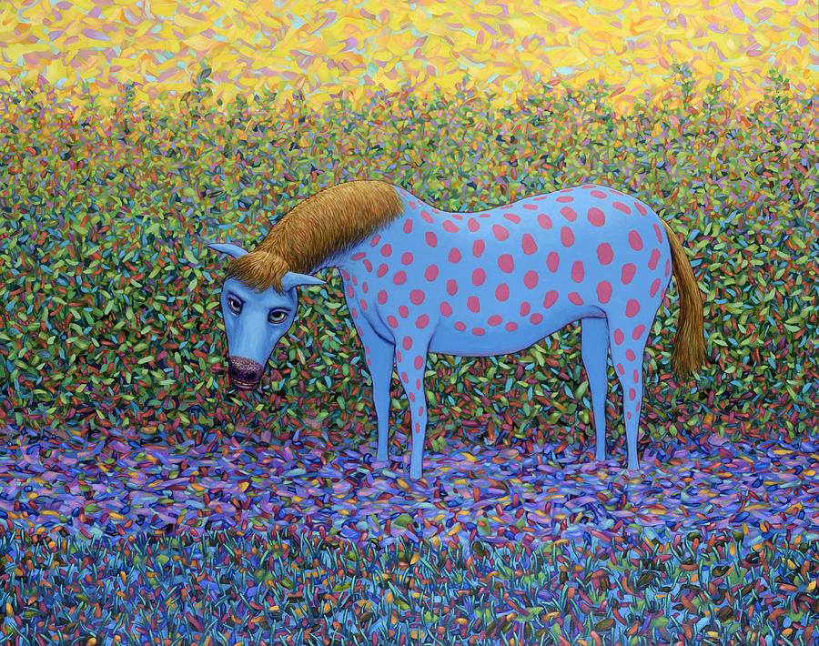 Horse Painting - Out Of The Pasture by James W Johnson