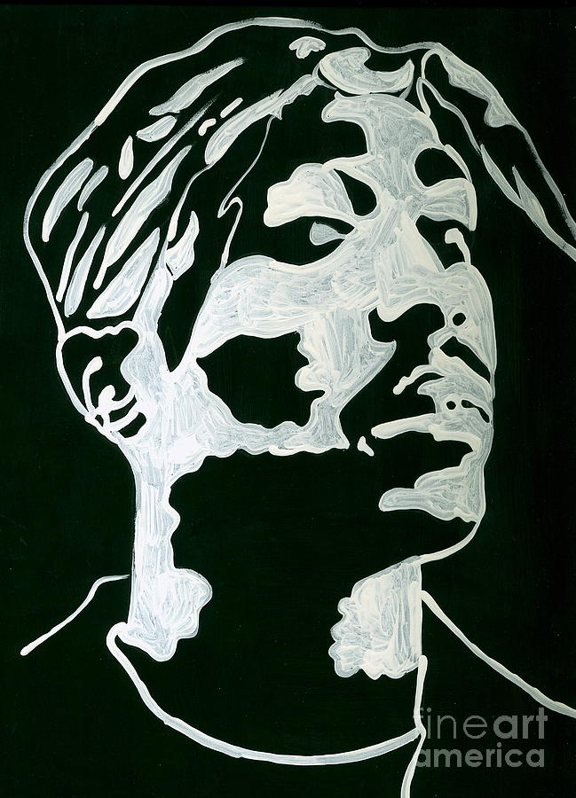 Hiphop painting out of the shadows of tupac by jj burner