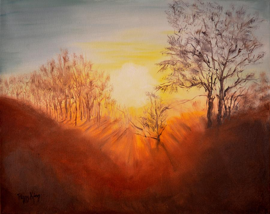Out of the Winter Morning Mists - 2 by Peggy King