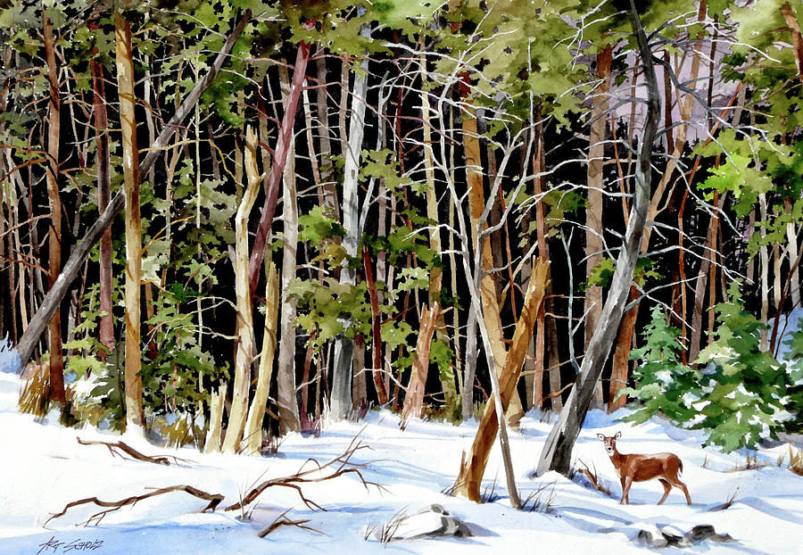 Out Of The Woods Painting by Art Scholz