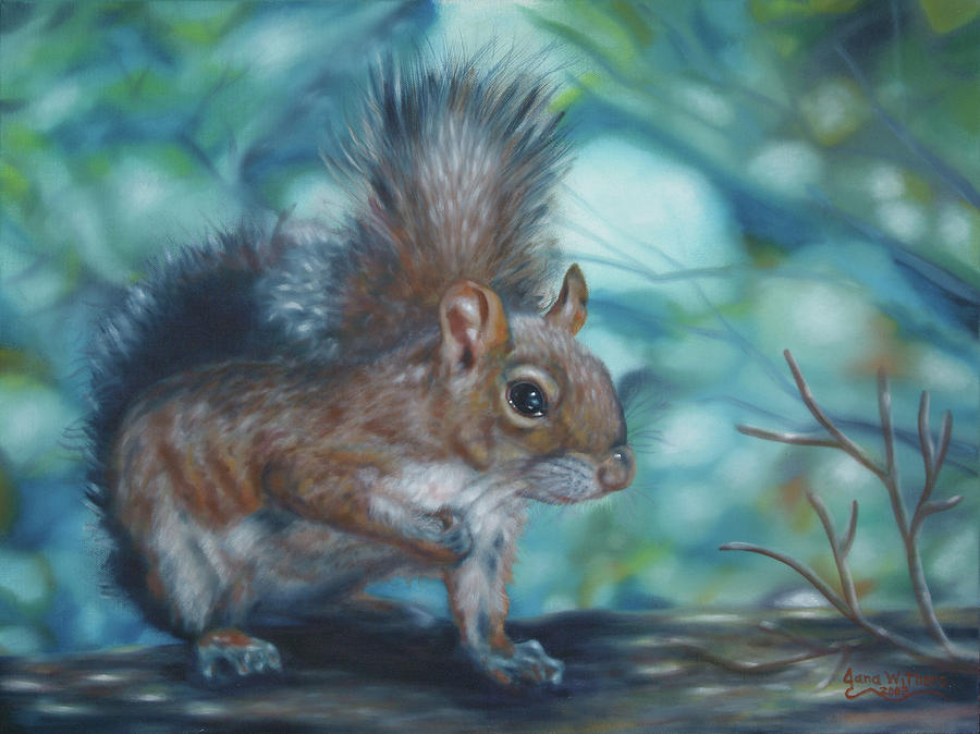 Squirrel Painting - Out on a Limb by Jana Withers