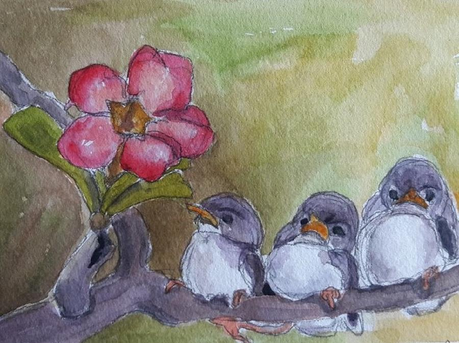 Watercolor Painting - Out On A Limb by Janet Butler