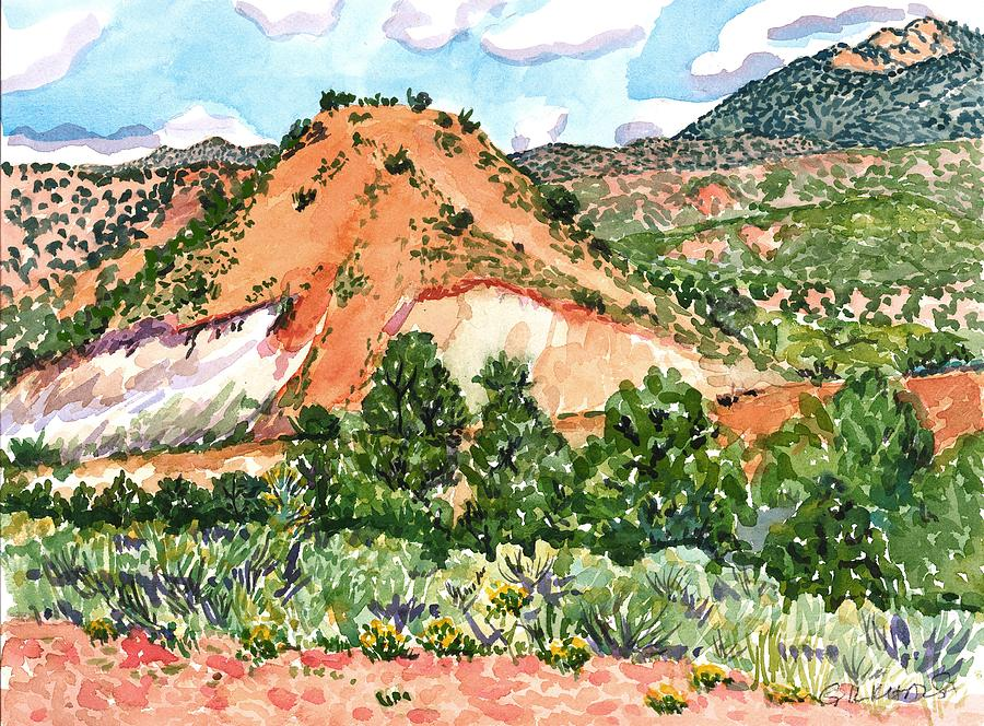 New Mexico Painting - Out On Bishops Road by Gurukirn Khalsa