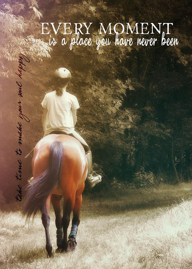 Horse Photograph - Out On The Trail Quote by JAMART Photography