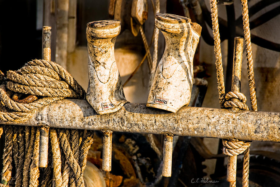 Boots Photograph - Out To Dry by Christopher Holmes
