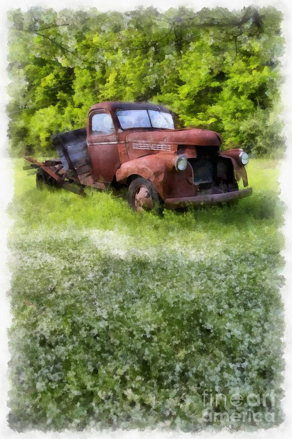 Truck Photograph - Out To Pasture by Edward Fielding