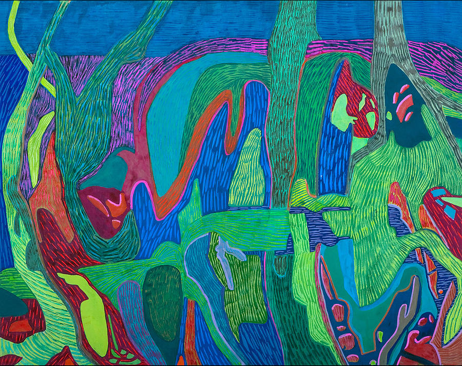 Abstract Painting - Outback Gardens by Sandra Salo Deutchman