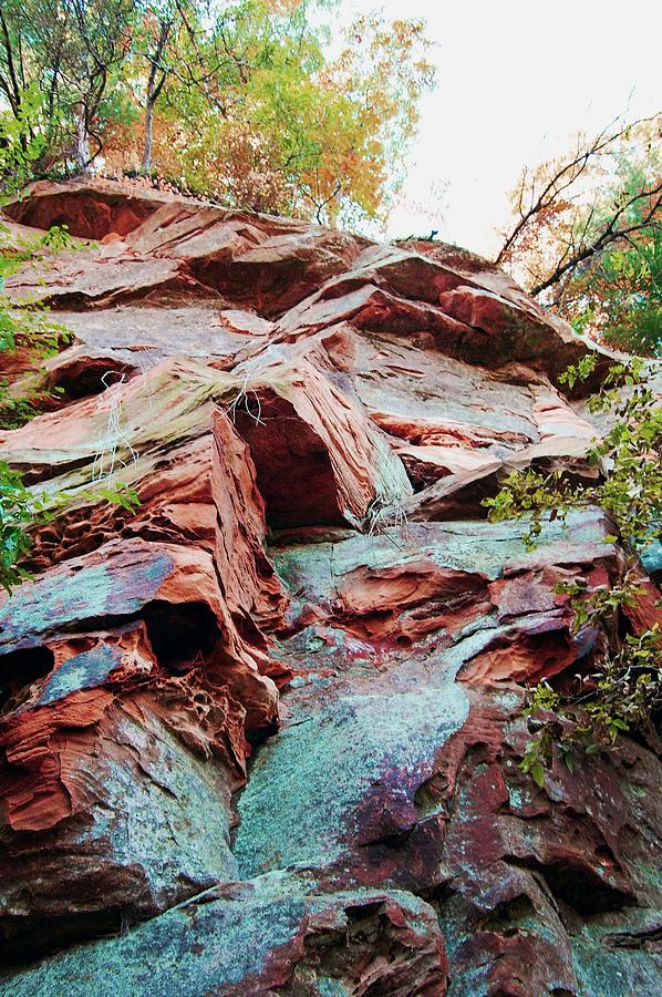 Sandstone Photograph - Outcrop At Wildcat Den by Jame Hayes