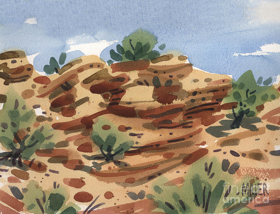 New Mexico Painting - Outcrop by Donald Maier