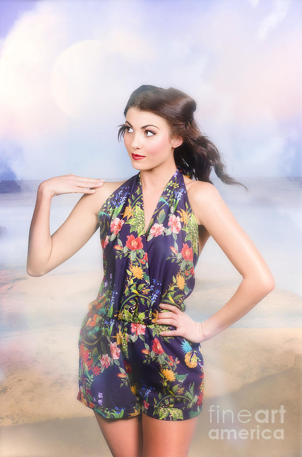 Fashion Photograph - Outdoor Fashion Portrait. Spring Twilight Beauty by Jorgo Photography - Wall Art Gallery